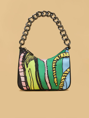 Printed satin bag