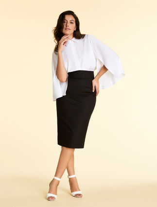 Cotton gabardine skirt
