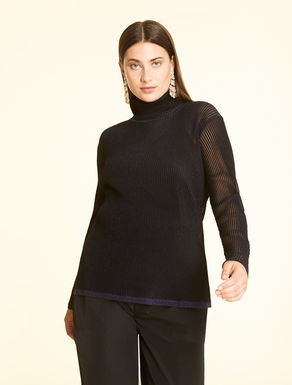 Lurex ribbed jumper