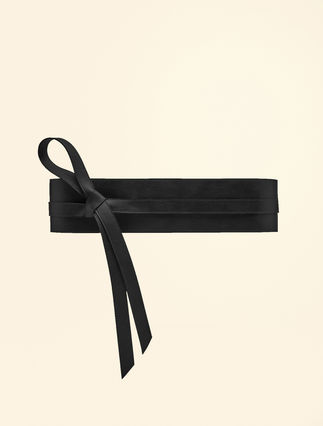 Coated-effect obi belt