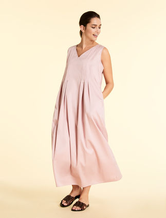 Cotton satin dress