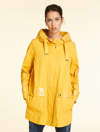 Cotton gabardine parka
