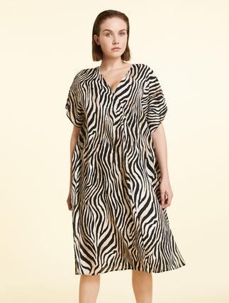 Dress in flowing viscose
