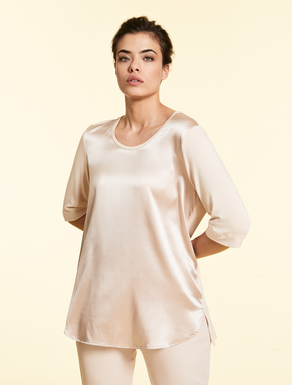 Jersey and silk tunic