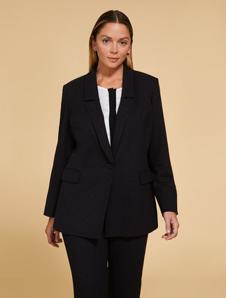 Stretch lurex jacket
