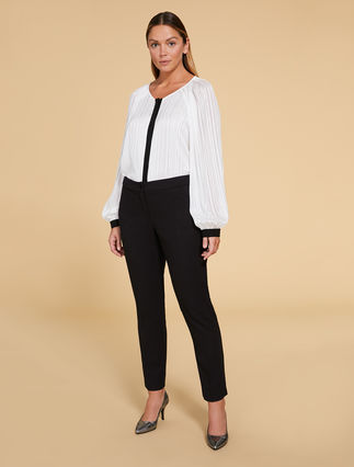 Trousers in stretch lurex