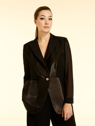 Twill and silk jacket