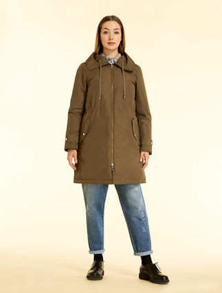 Cotton and nylon parka