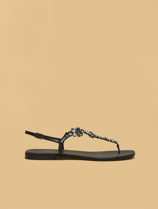 Jewel-embellished sandals