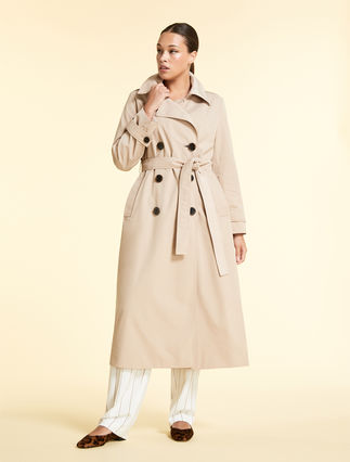Cotton and nylon trench coat