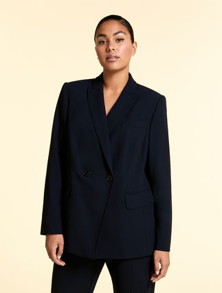 Wool crepe jacket