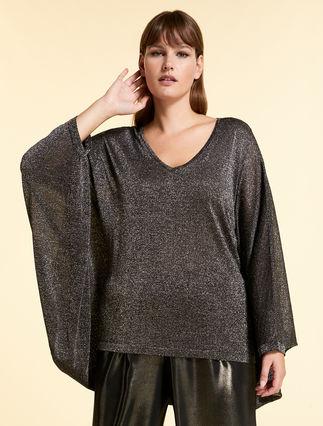 Nouveau MARINA RINALDI Cardigan Pull M lin//coton