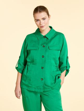 Linen and tencel jacket