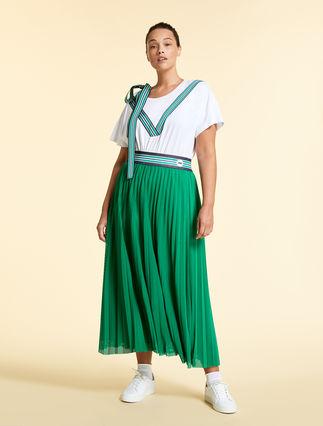Mesh jersey skirt