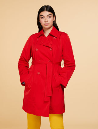 Polyester memory trench coat