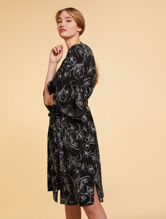 Printed viscose dress