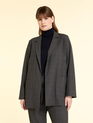 Jacquard blazer jacket