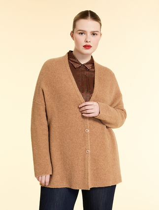 Wool bouclé wool cardigan